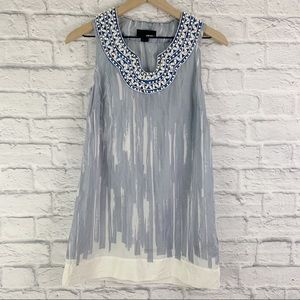 FOREVER 21 Silk and Beaded Tank Top